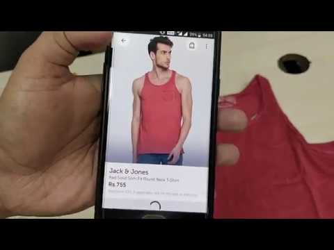 Jack & Jones Red Solid Slim Fit Round Neck T-Shirt | Tank and Tops