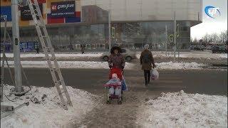 В Великом Новгороде устанавливают новые светофоры
