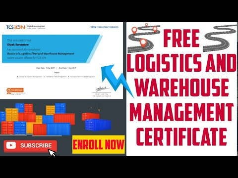Free logistics and warehouse management certification courses ...
