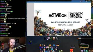 Asmongold Reacts to an Activision Blizzard Conference Call 2/12/2019