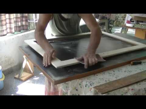 Come fare una cornice 60 x 90  per i nostri quadri, dal costo irrisorio.