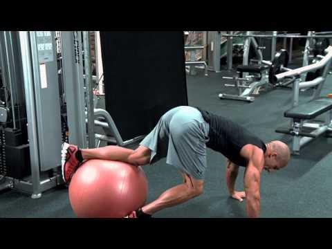 Exercise Ball Knee Tuck