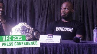 UFC 235 Press Conference Highlights
