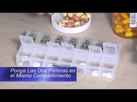 Cómo llenar un pastillero