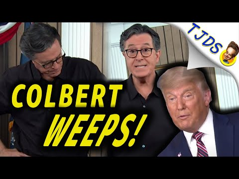 Colbert WEEPS Over Trump's Press Conference!