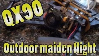 FPV outdoor maiden flight | Eachine QX90 | DVR
