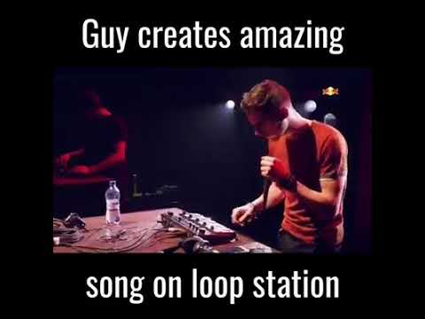 Guy Creates Amazing Song On Loop Station