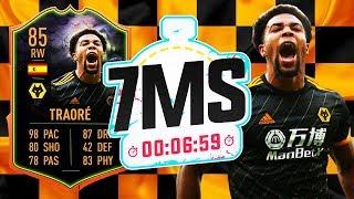 98 PACE!!! 85 SCREAM ADAMA TRAORE 7 MINUTE SQUAD BUILDER!! - FIFA 20 ULTIMATE TEAM