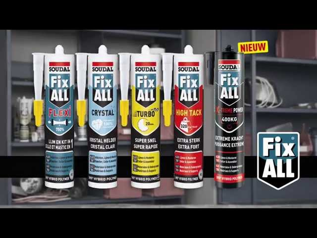instructievideo Soudal Fix All High Tack KOMO 290ml