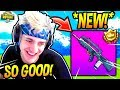 NINJA LOVES THE *NEW* BURST ASSAULT RIFLE! *OVERPOWERED* Fortnite SAVAGE & FUNNY Moments