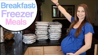 Breakfast Freezer Meals! Freezer Meals for New Moms!  Fill Your Freezer! Postpartum Prep