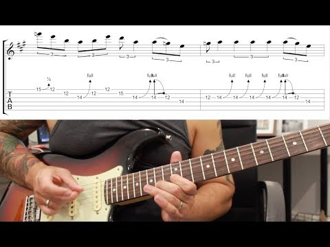 How to play 'Pride And Joy' by Stevie Ray Vaughn Guitar Solo Lesson w/tabs