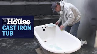 What to paint a cast iron tub with