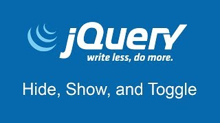 The jQuery Hide, Show, and Toggle Functions