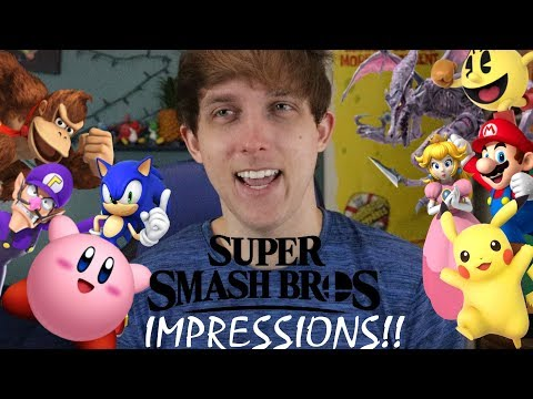 Smash Bros Ultimate Impressions!! (EVERY CHARACTER IN THEIR TAUNTS)