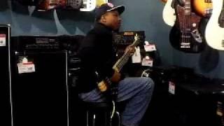 Mel Brown on bass at Guitar Center