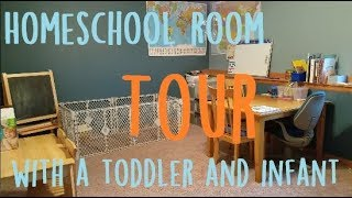 Homeschool Room Set Up (with A Toddler And An Infant!)