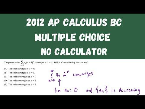 AP Calculus BC Practice Exam 2012 - Multiple Choice questions 1 ...