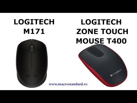 Am inlocuit mouse-ul LOGITECH ZONE TOUCH cu unul simplu si ieftin: Mouse Wireless USB LOGITECH M171