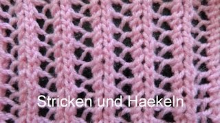 Strickmuster * EINFACHES AJOURMUSTER * Ideal auch fuer Anfaenger
