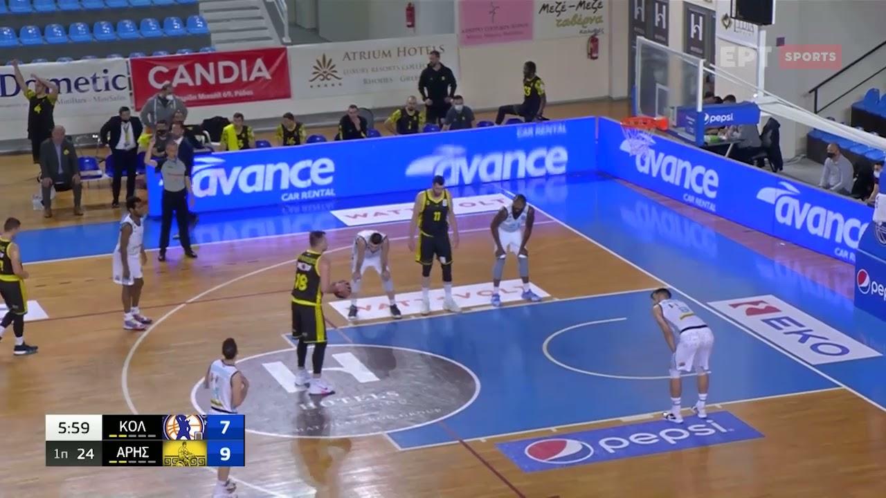 Basket League   Κολοσσός – ΑΡΗΣ   03/04/2021   ΕΡΤ
