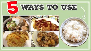 5 Ways To Use Leftover Rice! | Easy, Budget Friendly Meals | Frugal Family Favorites