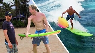 Jamie O'Brien Teaches Shane Dorian How to Board Transfer (and Fails) // Omaze