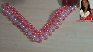 DIY: entrelaçado de  tira de pérolas  para chinelos - perlas de tira zapatillas
