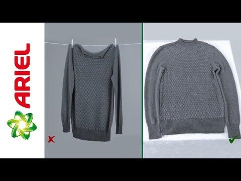 Consejos sobre cómo secar la ropa de lana eficazmente - Ariel