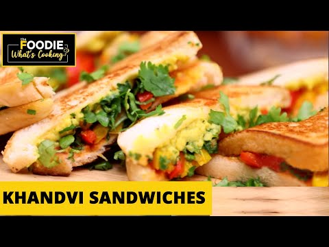 Khandvi Sandwiches | Tiffin Recipe | Gujarati Fusion Food | What's Cooking | The Foodie