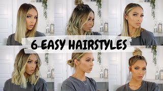 6 EASY HAIRSTYLES FOR SHORT / MID LENGTH HAIR | ALEXXCOLL
