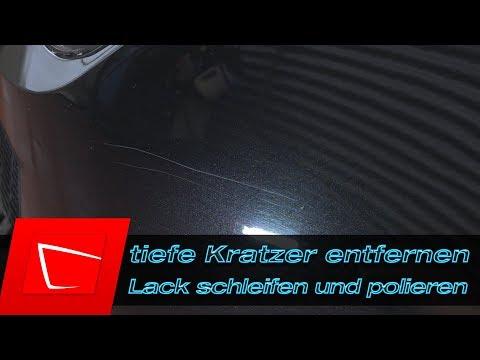 Tiefe Kratzer entfernen - Lack kneten - Lack schleifen - Auto polieren Anleitung Schleifblüten