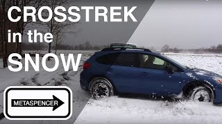 Subaru Crosstrek in the Snow 2016