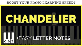 chandelier easy piano songs letter notes