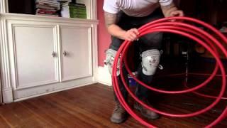 Tip to unroll pex flexible tubing