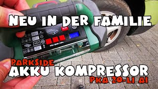 Ausprobiert: Akku Kompressor 20 Volt PKA 20-Li A1 von PARKSIDE®