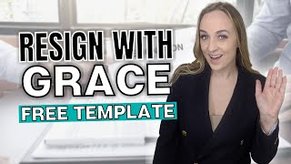 How to Write a Letter of Resignation (QUIT YOUR JOB GRACEFULLY) Free Resignation Letter Template