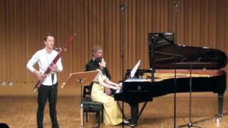 Camille Saint-Saëns Bassoon Sonata op 168 Sebastian Stevensson, Asuka Nakamura