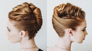 Easy Loose Hairstyle In 7 Min.  French Top Twist Updo For Long Hair