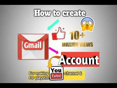 How to create a Gmail account for playstore and for YouTube channel | Create gmail account | 2019