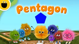 Pentagon | Words with Puffballs (Sesame Studios)