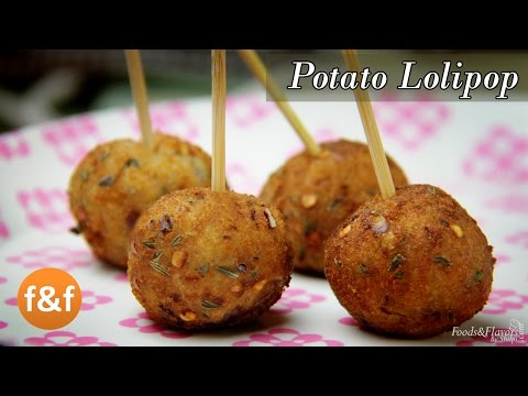 Potato Lollipop Recipe - Easy evening tea snacks recipes / Veg Party starters appetizer dish ideas