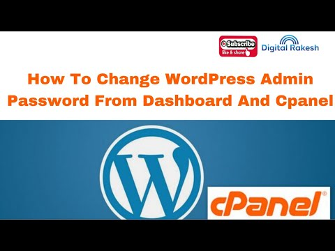 How to change WordPress admin password from dashboard and cpanel