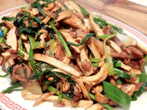 S2Ep65-Pressed Bean Curd with Shredded Pork and Chives 韭菜香乾肉絲