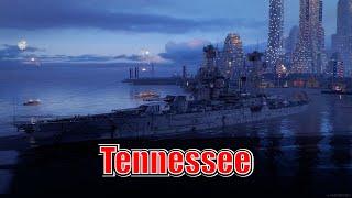 Meet The Tennessee! Tier 5 US Battleship (World of Warships Legends Xbox Series X) 4k