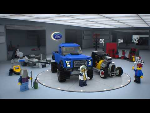 Конструктор Ford F-150 Raptor & Ford Model A Hot Rod - LEGO SPEED CHAMPIONS - фото № 8