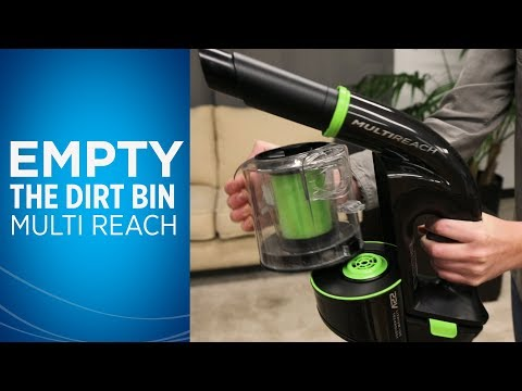 How to Empty the Dirt Bin and Clean the Filter on Multi Reach™ Video