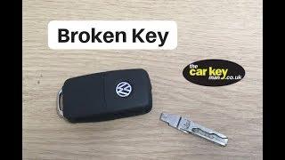 VW Volkswagen Skoda Seat Broken Key HOW TO Fix Snapped Blade