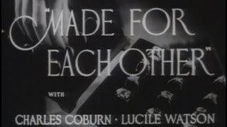 Made for Each Other (1939) [Comedy] [Drama] [Romance]