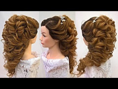 Свадебная причёска на длинные волосы .Греческая коса.